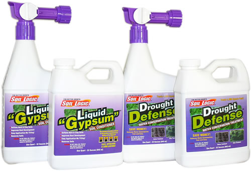 Soil Logic Liquid Gypsum and Drought Defense RTS w refill combo