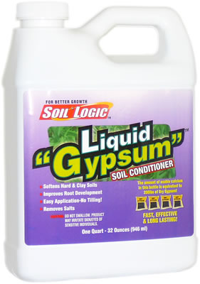 Soil Logic Liquid Gypsum 32 ounce quart bottle